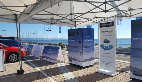 L'ecopàrquing adopta un sistema de reciclatge únic.