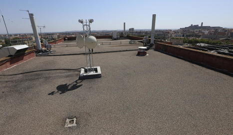 La teulada de l'hospital de Vilanova, on està previst habilitar un heliport.