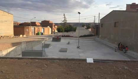 La zona on s'ha habilitat l'skate de Saidí.