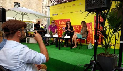 El lleidatà Emili Bayo, ahir a la Setmana del Llibre en Català.