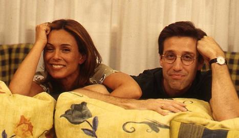 Nacho Martín amb la cunyada, Alicia.