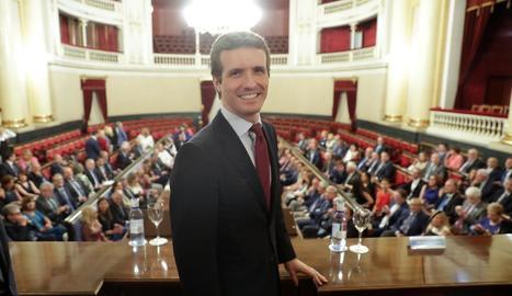 El líder del Partit Popular, Pablo Casado.