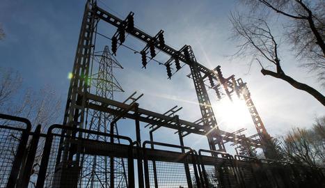 Imatge d'una subestació elèctrica.