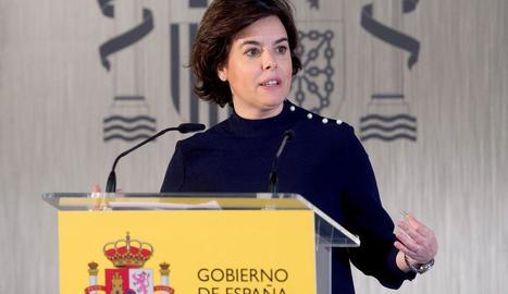 L'exvicepresidenta del Govern Sáenz de Santamaría.
