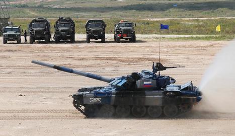 Soldats russos, en unes maniobres militars.