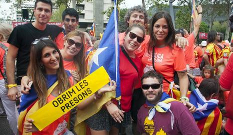 Un grup a Barcelona l'11-S.