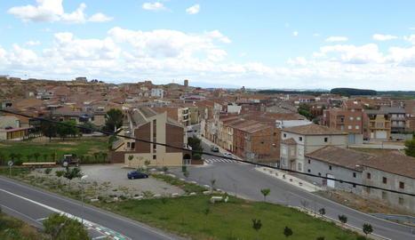 Vista panoràmica del centre urbà de Soses.