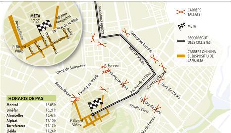 La Vuelta ja talla carrers de Lleida