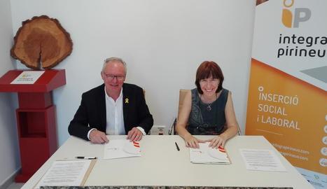 Acord de col·laboració a la Seu entre les dos entitats socials.