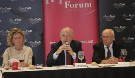 Joaquín Almunia, en un col·loqui de Fòrum Empresa