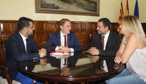Representants d'Asotrans es van reunir ahir amb el subdelegat del Govern a Lleida.