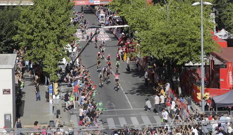 Els balcons, llocs privilegiats per seguir la Vuelta.