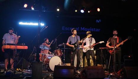 El quintet mallorquí Da Souza, a l'actuació al Cafè del Teatre, dijous a la nit.