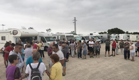 Quaranta caravanes estacionades aquest cap de setmana a les Borges Blanques.