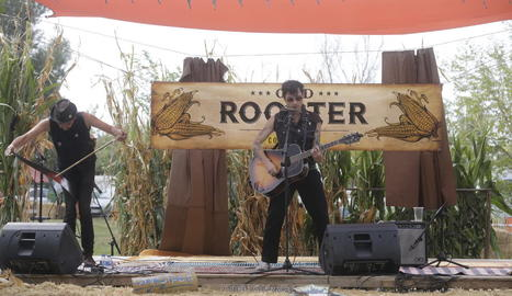 El duo The Giangoes, ahir a l'Old Rooster Music Fest.