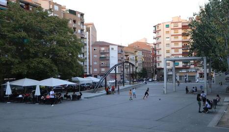 Imatge de la plaça Constitució.