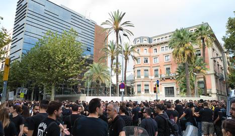 La protesta de mossos d'esquadra a Barcelona