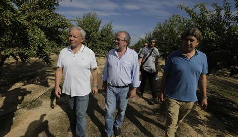 Girona, Reñé i Masot a la presentació de resultats sobre eficiència hídrica en l'ametller.