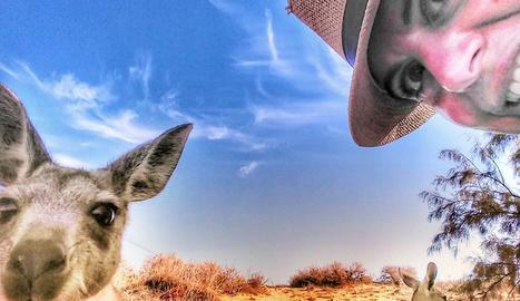 Salomé Flix és l'autora i protagonista d'aquesta divertida imatge, que li ha valgut el tercer premi.