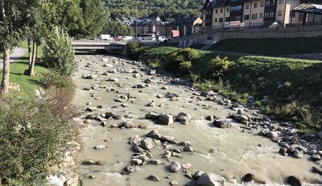 Les aigües tèrboles del riu Garona, el cap de setmana passat.