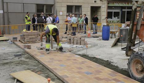 Les obres de diversos carrers al barri de Noguerola estaran a punt a finals d'octubre.