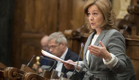 La presidenta de Ciutadans a Barcelona, Carina Mejías.