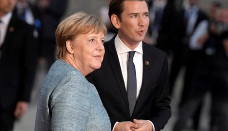 La cancellera alemanya, Angela Merkel i l'austríac Sebastian Kurz.