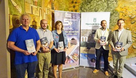 Presentació de la V edició del festival, ahir a la Diputació.