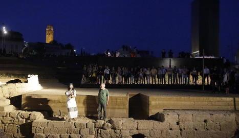 La inauguració de la Cuirassa, el barri jueu de Lleida, va congregar nombrosos assistents.