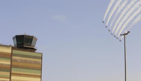 Els primers avions van arribar ahir a l'aeroport d'Alguaire.