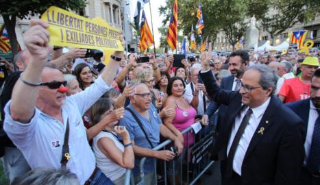 El president de la Generalitat, Quim Torra, ahir, a la commemoració del 20-S a Barcelona.