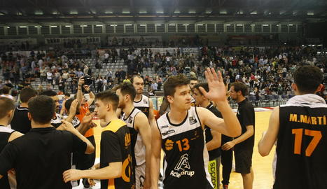 Kregor Hermet després d'un dels últims partits amb la samarreta del Força Lleida.
