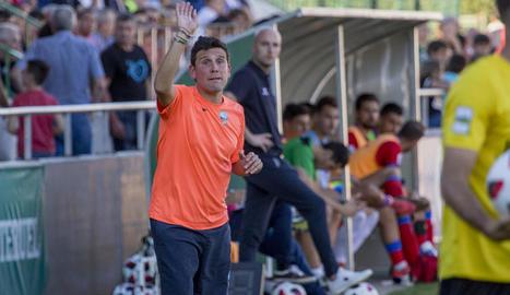Gerard Albadalejo, durant l'últim partit a Terol.