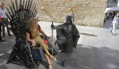 Estàtues Humanes a l'Eix de Lleida