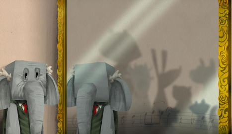 curiositats. El record que s'engoleix el tauró. Una capsa amb una data misteriosa, que és l'aniversari de l'il·lustrador del conte.