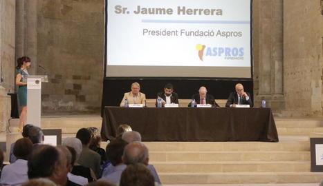 Chakir el Homrani va presidir ahir la jornada 'Humanisme i Societat' d'Aspros a la Seu Vella.