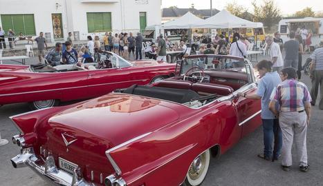 L'exposició de vehicles clàssics va ser un altre dels atractius del certamen.
