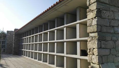 Les obres d'ampliació del cementiri municipal.