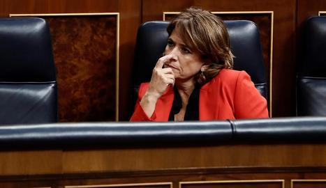 La ministra de Justícia, Dolores Delgado, assegura que en 25 anys ha coincidit tres cops amb Villarejo.