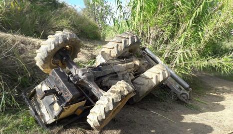 Accident mortal de tractor a Torrefarrera.