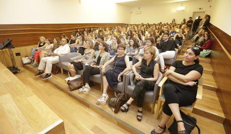 El seminari en el qual es van presentar els resultats d'aquest estudi, ahir al campus de la UdL.