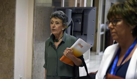 L'administradora única provisional de RTVE, Rosa María Mateo.