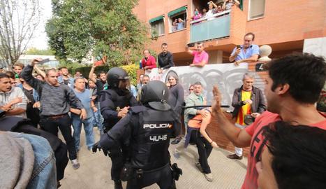 Càrregues policials a la Mariola