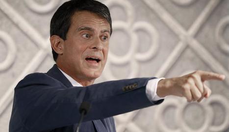 L'aspirant a l'alcaldia de Barcelona, Manuel Valls.