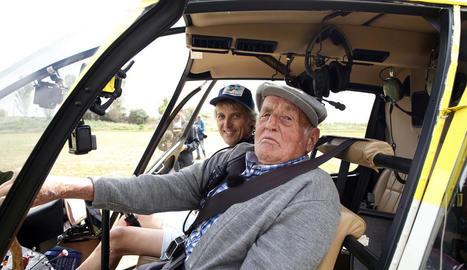 Joan Mata Pijuan, 'el Tato', es va divertir a bord de l'helicòpter del programa, durant el rodatge.