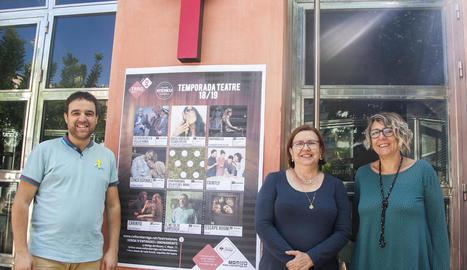 Presentació ahir a Tàrrega de la nova cartellera teatral.