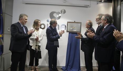 El president de la Generalitat, Quim Torra, ha inaugurat la nova seu de Pimec a Lleida.