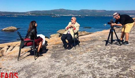 Un moment de l'entrevista amb Oubiña, exnarco gallec.