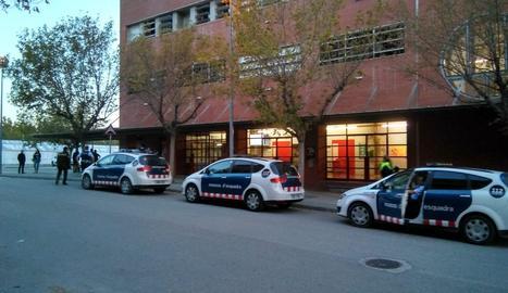 Els Mossos d'Esquadra, a primera hora del matí al campus d'Agrònims de la UdL.