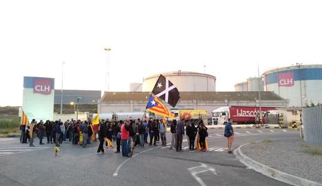 La protesta dels CDR a l'LL-11 a Lleida.